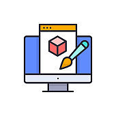 Digital art vector Filled outline icon style illustration. EPS 10 file