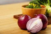 shallots still life wood background onion bulb season herb vegetable ingredient