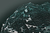 Abstract background of technology and science.3d illustration.
