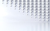 Abstract white pattern of geometric shapes.3d illustration