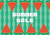 Watermelon summer sale illustration material