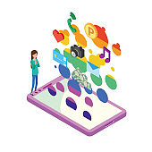 Image illustration of technology born from smartphones