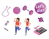 A woman who moves for a diet