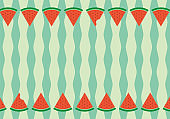 Watermelon background material