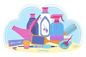 Hairdresser tools and cosmetic for hair care