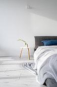 Modern interior design in cozy and comfort bedroom