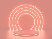 neon round frame