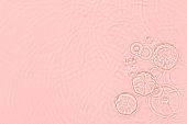 pink transparent clear water surface texture summer background