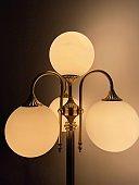 Ancient lamp bulb in the dark