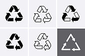 Recycling Icons. Recycle Sign.