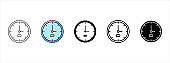 Clock icon set. Wall clock vector icons set. Time watch vector illustration