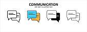 message bubble chat talk icon vector illustration simple flat design