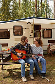 Couple Traveling with RV