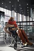 Disabled Man Entering Underground Station