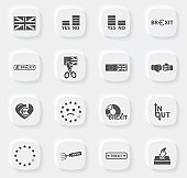 Brexit, icon set for web