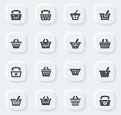 Basket icons set