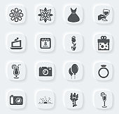 8 March icons set