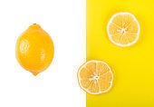 Creative layout made of lemon. Flat lay