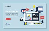online marketing, digital marketing vector illustrator design