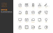 set of business thin line icons, work, job, office, workplace