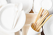 Eco friendly biodegradable paper disposable for packaging food