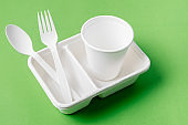 Eco friendly biodegradable paper disposable for packaging food and paper glass