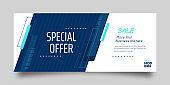 Modern Mega Sale banner for advertising discounts. Vector template for design special offer poster.