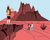 people adventure landscape