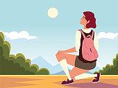 traveler woman adventure