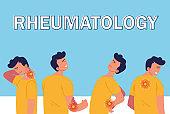 rheumatology disease man