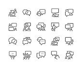 Line Business Communication Icons