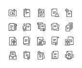 Line Documents Icons