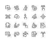 Line Headhunting Icons