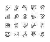 Line Customer Satisfaction Icons