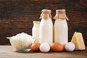 dairy products : milk, cheese, cottage cheese, eggs, yogurt