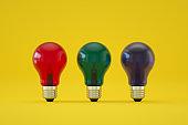 Light Bulb Background, Minimal Idea Concept
