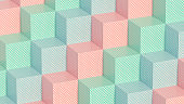 3D Cubes Pattern Background