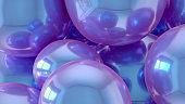 Iridescent Sphere Background