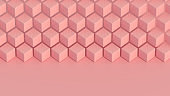 3D Isometric Cubes Pattern Background