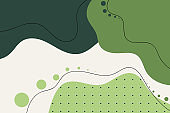 Abstract green color background. Liquid style. Minimalist artwork poster. design for web banner, wallpaper, fabric print