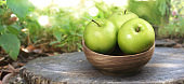 Perfect  Green Apple Isolated. Full Depth of Field with Clipping Path