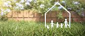 Model of detached miniature house  mock up