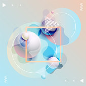 Fluid colors, poster design. Abstract colorful template.