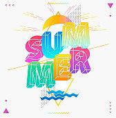 Summer typographic poster