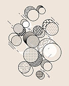 Composition of outline isometric circles.