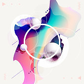 Fluid poster design. Abstract geometric composition