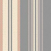 Stripe pattern in brown, orange, beige. Textured herringbone retro vertical lines for blanket, duvet cover, throw, upholstery, or other modern autumn winter interior or fashion textile design.