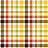 Autumn plaid pattern. Multicolored gingham vichy check in brown, red, orange, green, yellow, off white for flannel shirt, tablecloth, picnic blanket, duvet cover, other modern fashion fabric design.