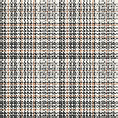 Plaid pattern glen check in grey and beige. Houndstooth abstract tartan tweed vector for shirt, dress, skirt, trousers, throw, coat, jacket, other modern spring autumn winter fashion fabric design.