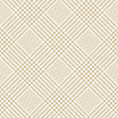 Glen check pattern in beige and white. Seamless light tweed tartan check plaid for dress, skirt, coat, or other modern spring, summer, autumn fashion or home textile print. Textured design.